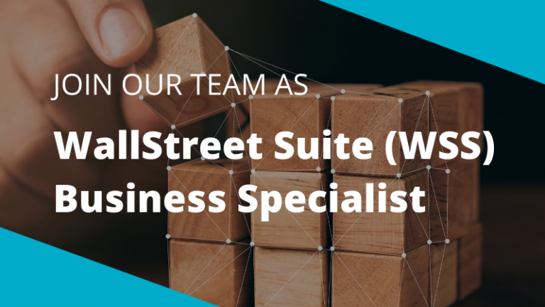 Looking for WallStreet Suite WSS Business Specialist